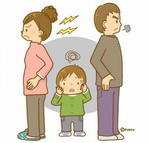 子どもの前では喧嘩はしたくないが・・・。